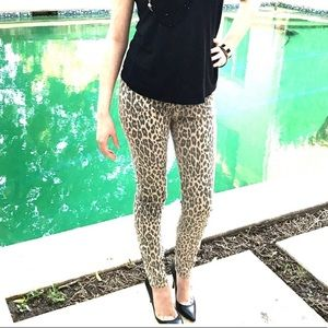 Leopard Print Maternity Skinny Jeans